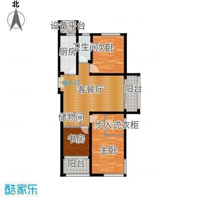 浦江御景湾127.47㎡1号和2号楼C2'户型3室2厅2卫