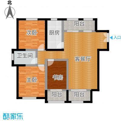 浦江御景湾123.50㎡C1户型3室2厅1卫