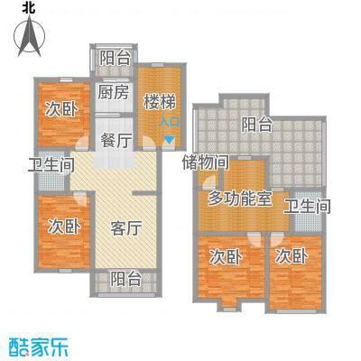 羽丰西江春晓156.84㎡户型4室1厅2卫1厨
