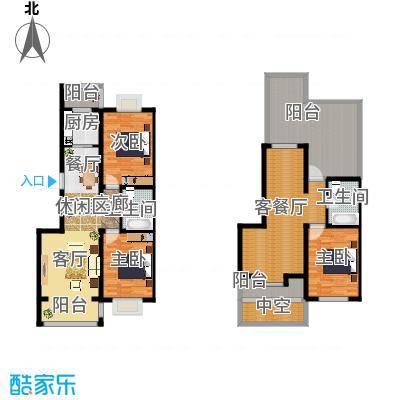 羽丰西江春晓户型3室1厅2卫1厨