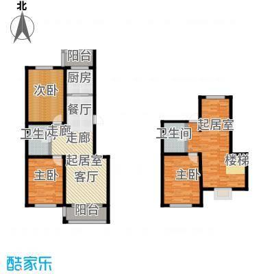 羽丰西江春晓户型3室2卫1厨