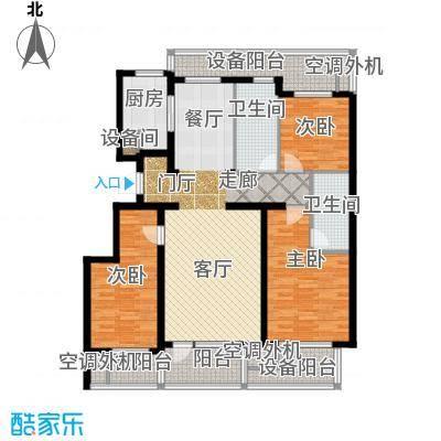 绿城沈阳全运村125.00㎡B1户型 三室两厅两卫户型3室2厅2卫
