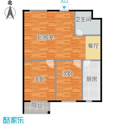SR国际新城91.08㎡C户型2室1卫1厨