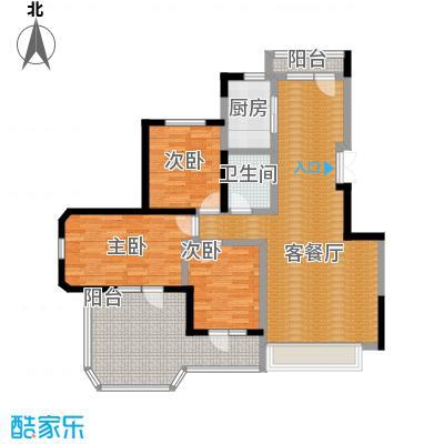 金地锦城100.00㎡五层褐石洋房户型3室1厅1卫1厨