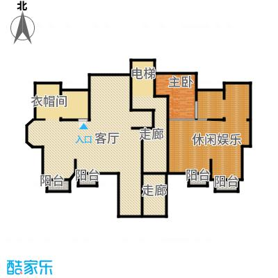 金地锦城319.66㎡一层洋房地下室示意图户型1室1厅