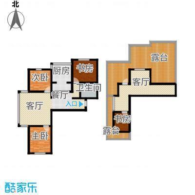 羽丰西江春晓138.65㎡户型4室2厅1卫1厨