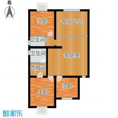 绿洲湾8号212.15㎡叠拼D二层户型10室