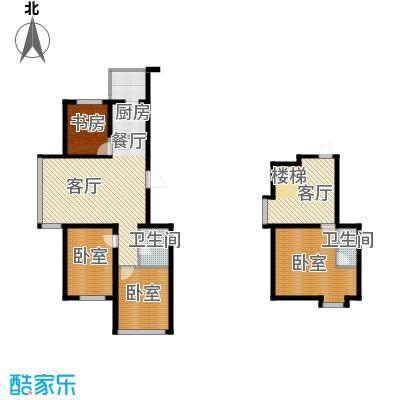 羽丰西江春晓137.00㎡户型1室2厅2卫1厨
