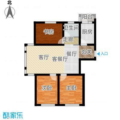 苏堤春晓92.00㎡3室2厅1厨1卫 92平米户型