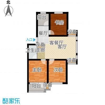 苏堤春晓89.00㎡3室2厅1厨1卫 89平米户型
