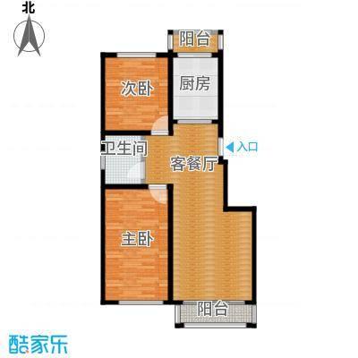 塞纳阳光79.47㎡小高层g4户型2室2厅1卫