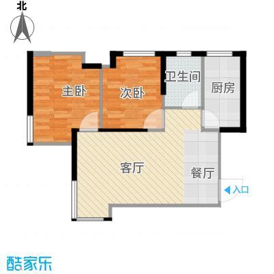 金地锦城76.00㎡观景高层户型2室1厅1卫1厨