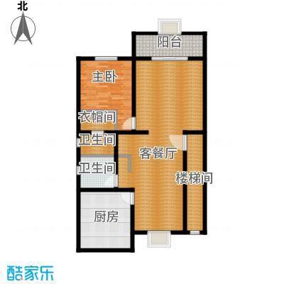 绿洲湾8号212.15㎡叠拼D一层户型10室