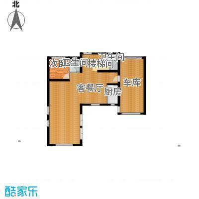 田纳溪湖206.00㎡202D一层户型1室1厅2卫1厨