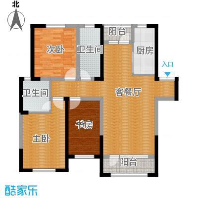 首创光和城125.00㎡B户型3室2厅2卫