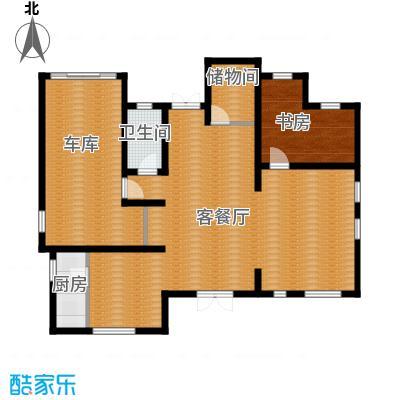 田纳溪湖236.00㎡201D一层户型1室1厅1卫1厨