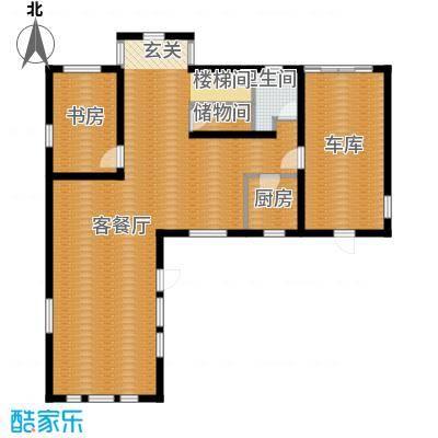 田纳溪湖225.00㎡201G一层户型1室1厅1卫1厨