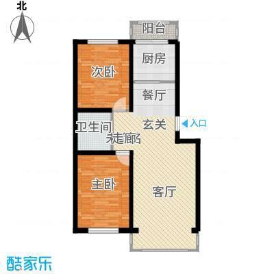 塞纳阳光89.20㎡多层d3户型2室2厅1卫