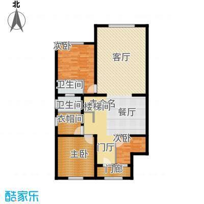 绿洲湾8号215.51㎡叠拼C一层户型10室