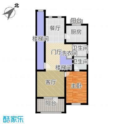绿洲湾8号125.46㎡叠墅B-02户型10室