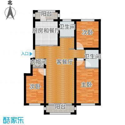 塞纳阳光118.19㎡小高层g6户型3室2厅2卫