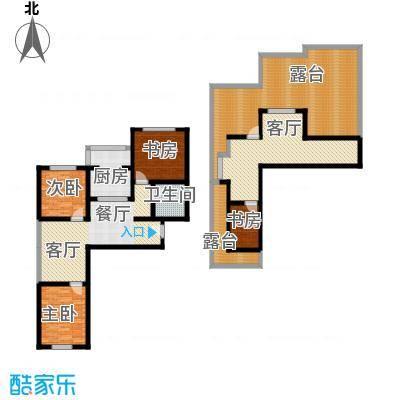 羽丰西江春晓131.19㎡户型4室2厅1卫1厨
