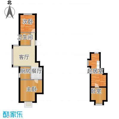 羽丰西江春晓108.50㎡户型2室1厅1卫1厨