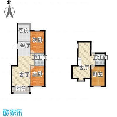 羽丰西江春晓165.10㎡户型2室2厅2卫1厨