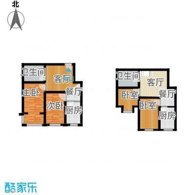 羽丰西江春晓126.84㎡户型2室2厅2卫2厨