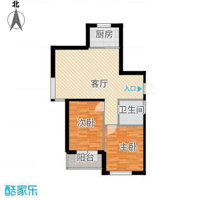 泰荣湾89.00㎡户型2室2厅1卫