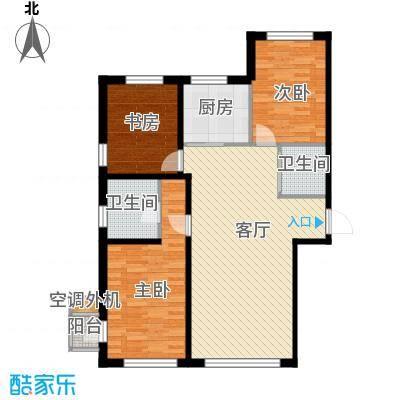 文华街三号院115.19㎡A户型3室2厅2卫