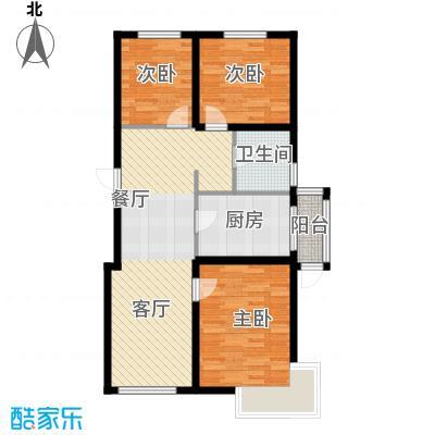 清河湾104.86㎡户型3室2厅1卫