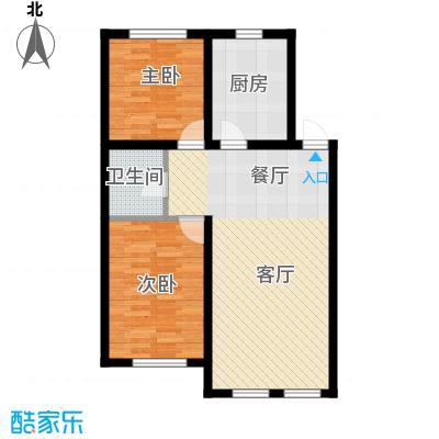 清河湾89.79㎡户型2室2厅1卫