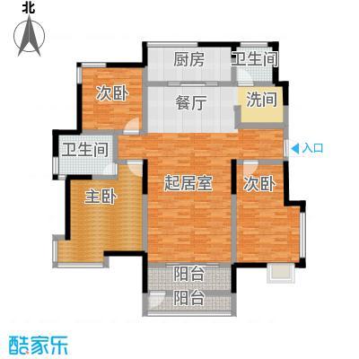 卓达太阳城146.76㎡C1户型3室2厅2卫