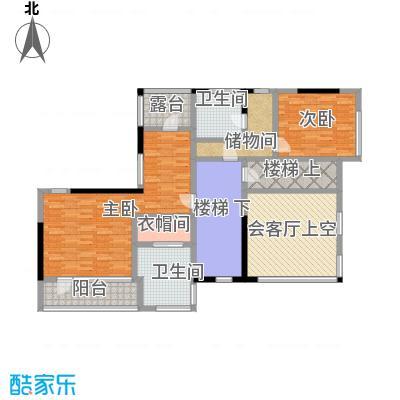 卓达太阳城231.00㎡E岛别墅二层户型10室