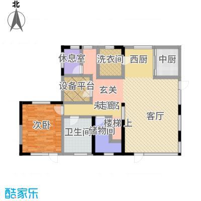 卓达太阳城231.00㎡E岛别墅一层户型10室
