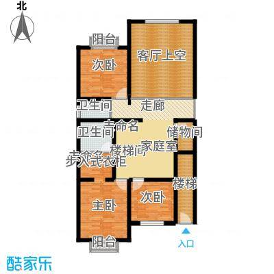 绿洲湾8号215.51㎡叠拼C二层户型10室