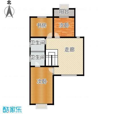 绿洲湾8号210.00㎡叠拼B二层户型10室