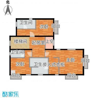 绿洲湾8号112.49㎡类独栋E-02二层户型10室