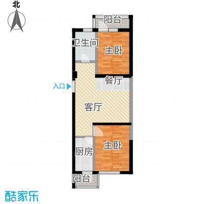 泰莱16区77.48㎡7#楼/偶数层B户型2室1厅1卫1厨