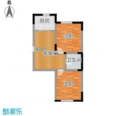 台北雅苑80.06㎡C3户型2室2厅1卫