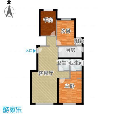 富力新城101.00㎡A户型3室2厅2卫