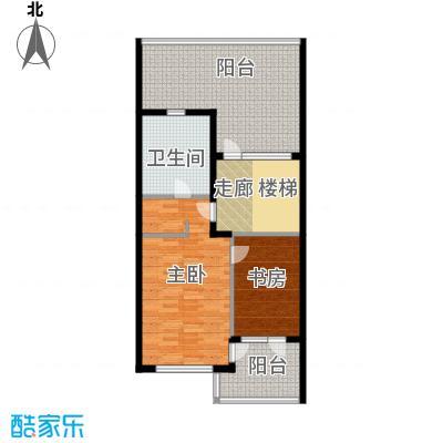 富力新城88.29㎡A2三层户型10室