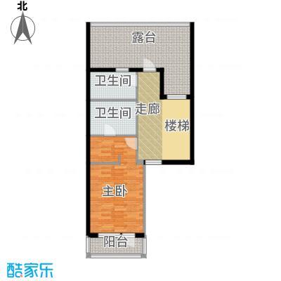富力新城75.69㎡A2二层户型10室