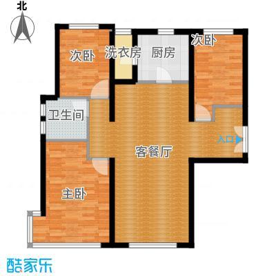 富力新城99.00㎡B-1户型3室2厅1卫