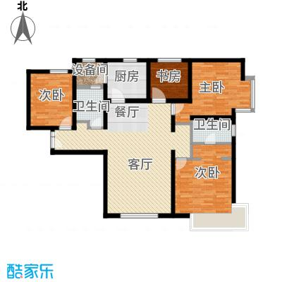 富力新城130.00㎡C-1户型4室2厅2卫