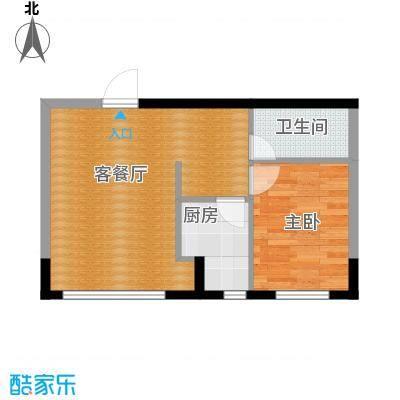 台北雅苑58.26㎡C2户型1室2厅1卫