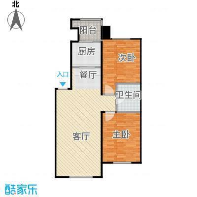 证大光明城85.60㎡三期1-9、11、16-18#楼2B2户型2室2厅1卫