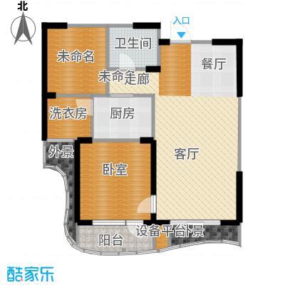 名流公馆80.25㎡7号楼A3户型2室2厅1卫