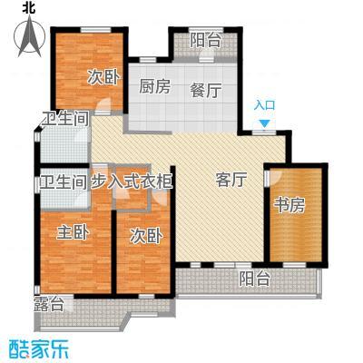 名流公馆138.82㎡11号楼B3户型4室2厅2卫